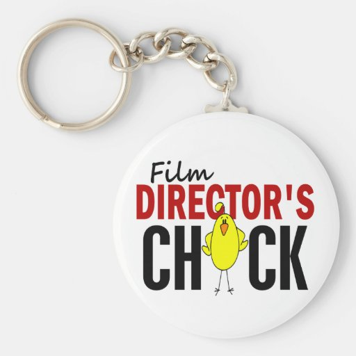 Film Director's Chick Keychain