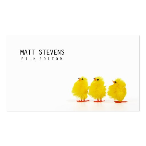 Film Editor Business Card Cute Chicks