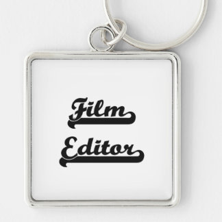 Film Editor Classic Job Design Silver-Colored Square Key Ring