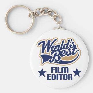 Film Editor Gift (Worlds Best) Basic Round Button Key Ring