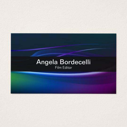 Film EditorBusiness Card Borealis Lights