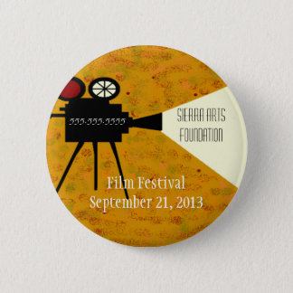 Film Festival Camera 6 Cm Round Badge