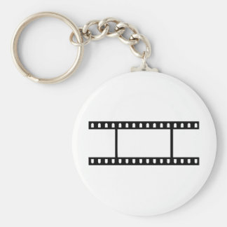 Film Flick Basic Round Button Key Ring