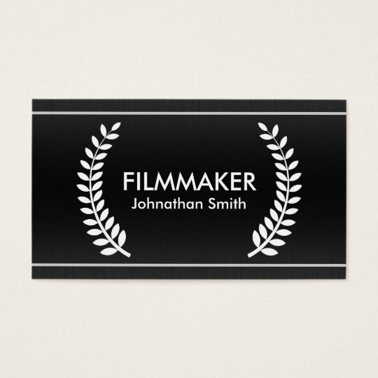Film Laurels Classy Business Cards for Filmmakers