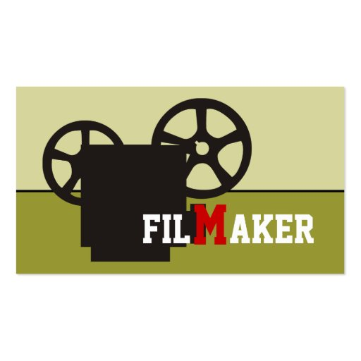 Film maker/director/Movie maker business cards Business Card Templates