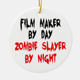Film Maker Zombie Slayer Christmas Ornament