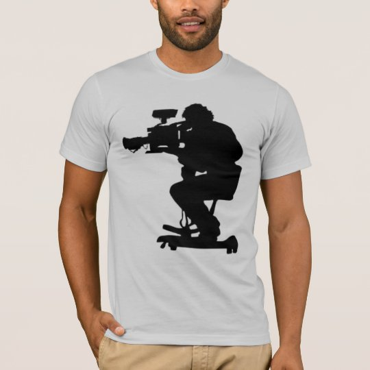 Film Makers Silhouette grey semi fitted mens tee