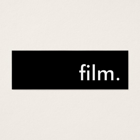 film. mini business card