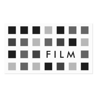 FILM (mod squares) Pack Of Standard Business Cards
