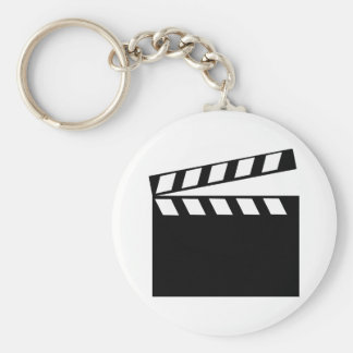 Film Movie Clapper Basic Round Button Key Ring