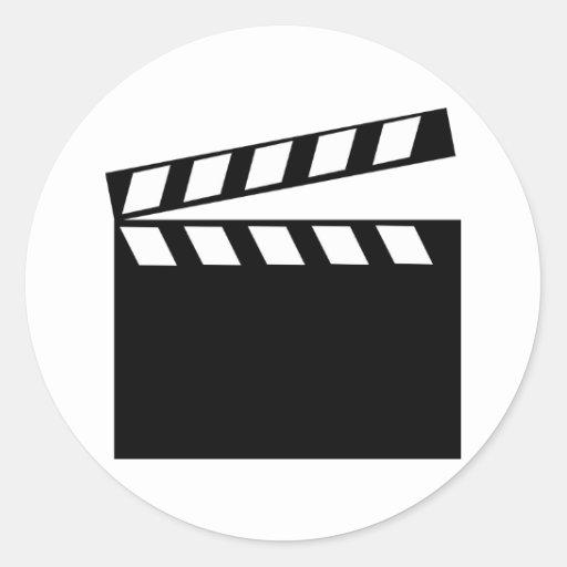 Film Movie Clapper Round Sticker
