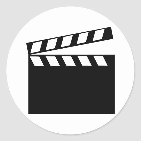 Film Movie Clapper Round Sticker