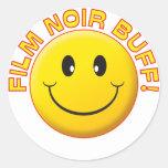 Film Noir Buff Smile Stickers