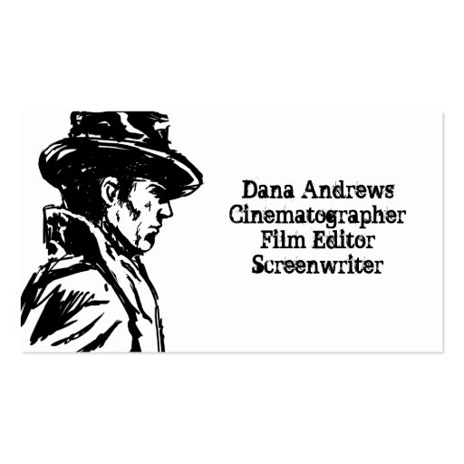 Film Noir Detective Business Card Template