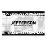 Film Noir Grunge Style Company Pack Of Standard Business Cards