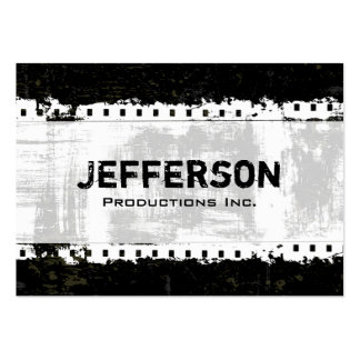Film Noir Grunge Style Large Company Business Card
