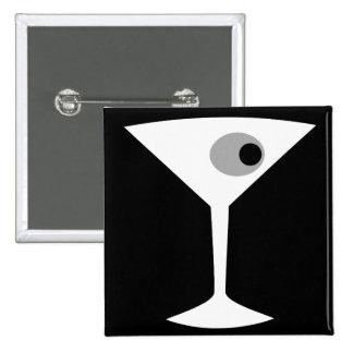 Film Noir Martini Glass Button