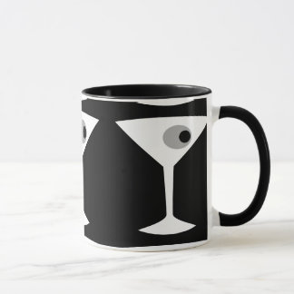 Film Noir Martini Glass Mug