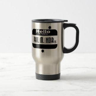 Film Noir Name Tag Mug