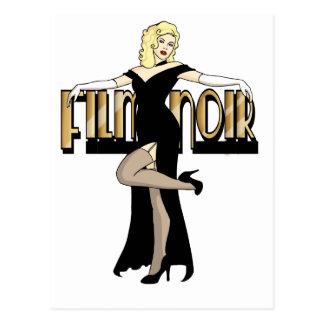 Film Noir Silver Screen Pinup Postcard