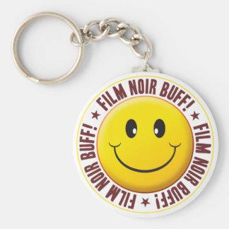 Film Noir Smiley Keychain