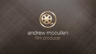 Film producer business cards business card printing zazzle uk film producer film reel icon brushed gold metal business card colourmoves