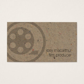 Film Producer Film Reel Icon Photography Business Card