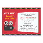Film Projector Movie Night Birthday Party Card