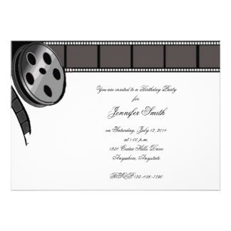 Film Reel in Black and White Party Invitation