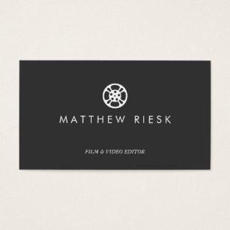 Film Reel Logo, Film and Video Editor Black