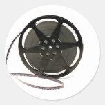 Film reel round sticker