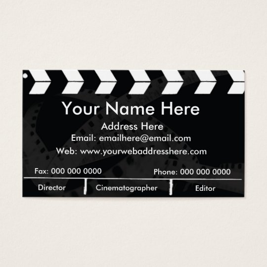 Film Slate Business Card
