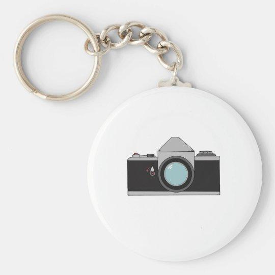 Film SLR Camera Basic Round Button Key Ring