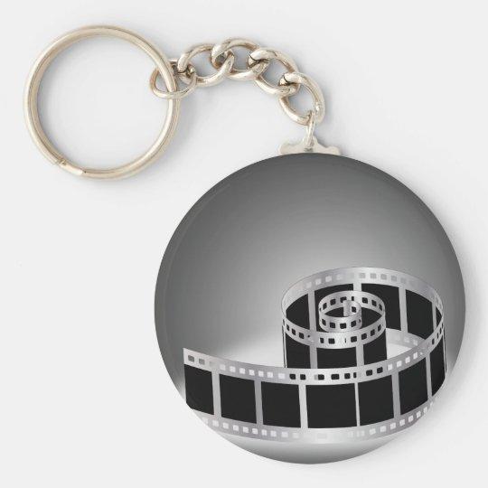 Film strip basic round button key ring