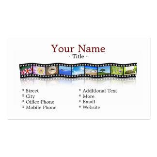 Film strip business card template