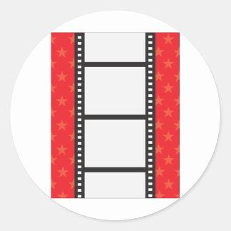 Film Strip Classic Round Sticker