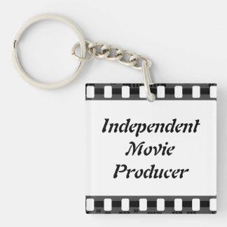 Film Strip Double-Sided Square Acrylic Keychain