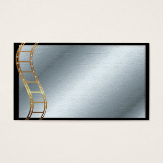 Film Strip Metallic Gold and Silver Business Card