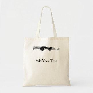 Film Strip on Black and White Ribbon Bags