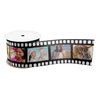 Film Strip Personalized DIY 10 Images Satin Ribbon