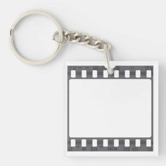 Film Strip Single-Sided Square Acrylic Key Ring