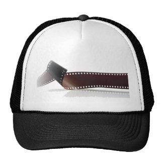 Film Strip with Reflection on White Trucker Hat