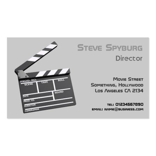 Film Studio 3d Clapperboard Business Card Templates