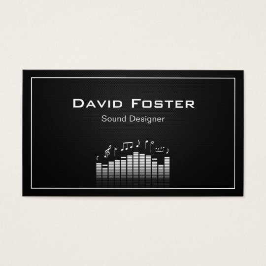 Film TV Audio Sound Designer Director Business Card