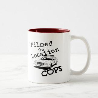 Filmed On Location-Mug Two-Tone Mug
