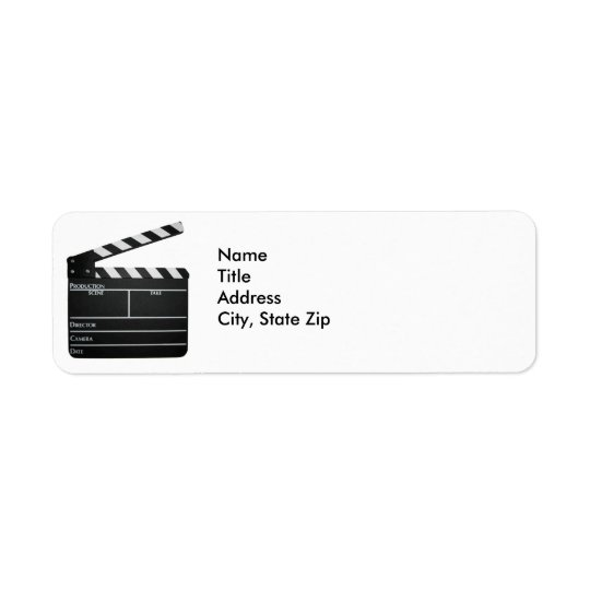 Filmmaker Film slate clapboard movie Address Label