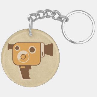 Filmmaker Movie Camera Double-Sided Round Acrylic Keychain