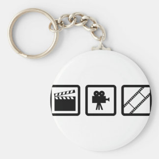 filmmaking gear basic round button key ring