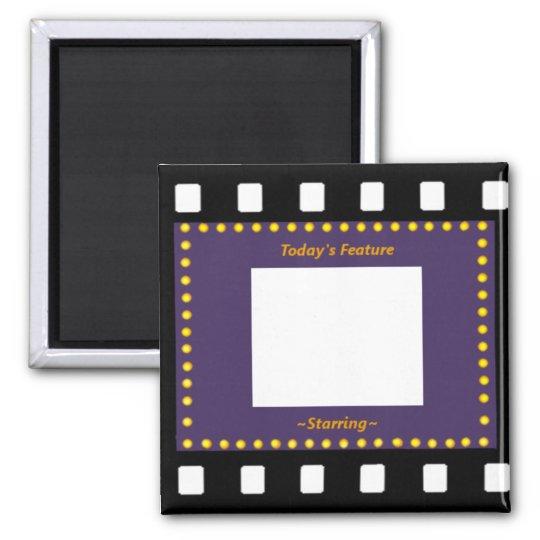 Filmstrip Picture Frame Square Magnet