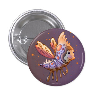 FILOUPPIN Small, 1¼ Inch Round Button MONSTER